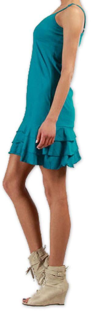 Robe courte à fines bretelles Colorée et Originale Innoa Turquoise 277084