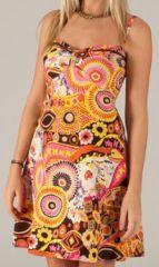 Robe courte à fines bretelles Colorée et Originale Solaya 277852