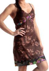 Robe courte à fines bretelles Ethnique et Originale Unnati 283359