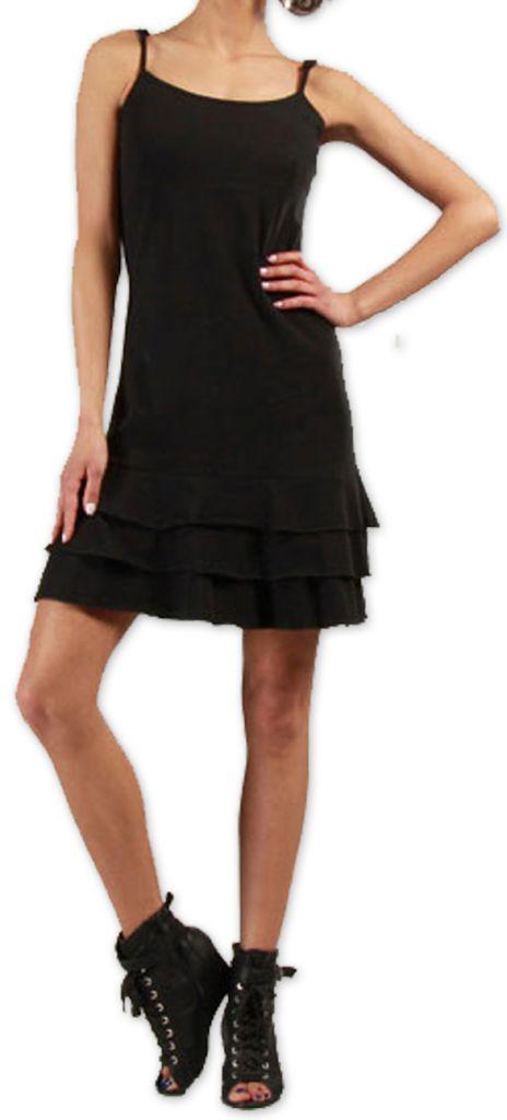 Robe courte à fines bretelles Originale et Colorée Innoa Noire 277079