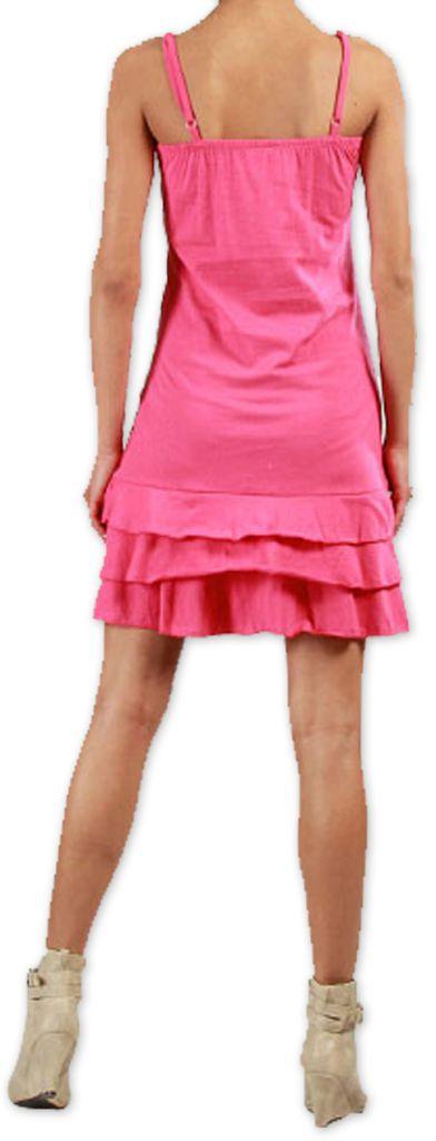 Robe courte à fines bretelles Originale et Colorée Innoa Rose 277093