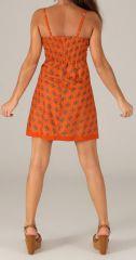 Robe courte à fines bretelles Originale et Colorée Stéphanie 277812