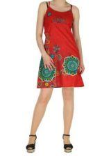 Robe courte à fines bretelles rouge jodie 267654
