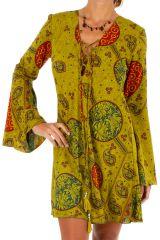 Robe courte à lacets et décolletée avec des manches évasées Judy 306278