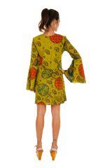 Robe courte à lacets et décolletée avec des manches évasées Judy 306280