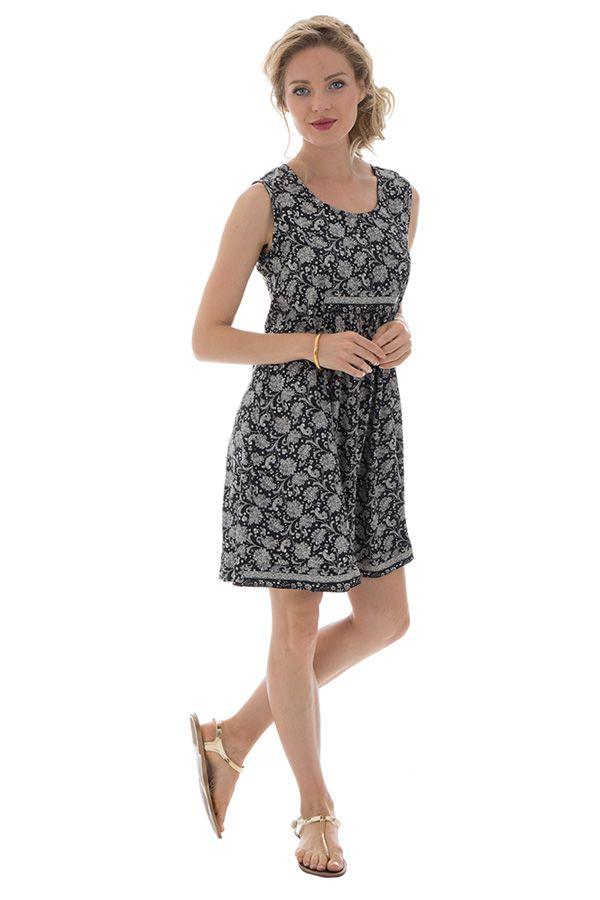 robe courte a larges bretelles et imprimés fantaisies Libera 289878