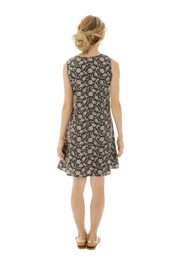 robe courte a larges bretelles et imprimés fantaisies Libera 289879
