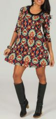 Robe courte à manches 3/4 Ethnique et Originale Aiyana 274218