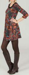 Robe courte à manches 3/4 Ethnique et Originale Alana 274220