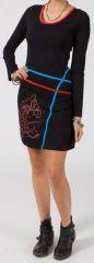 Robe courte à manches longues Colorée et Ethnique Manola 317272