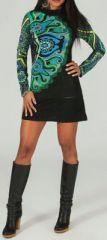 Robe courte à manches longues Ethnique et Colorée Aiko 274203