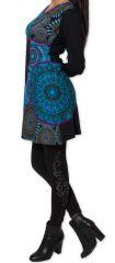 Robe courte à manches longues Ethnique et Colorée Avonn 277468