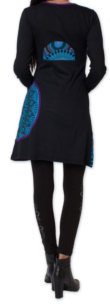 Robe courte à manches longues Ethnique et Colorée Avonn 277469
