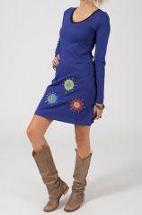 Robe courte à manches longues Ethnique et Colorée Paolina 318786