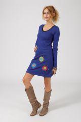 Robe courte à manches longues Ethnique et Colorée Paolina 318787