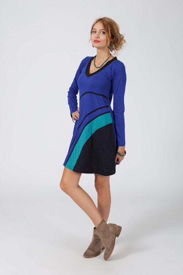 Robe courte à manches longues Ethnique et Colorée Pascaline 318757