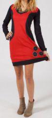 Robe courte à manches longues Ethnique et Colorée Philippa 275149