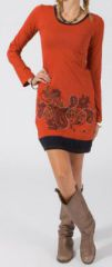 Robe courte à manches longues Ethnique et Colorée Precious 275159