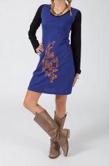 Robe courte à manches longues Ethnique et Colorée Radia 318842