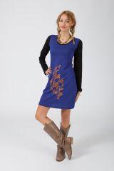 Robe courte à manches longues Ethnique et Colorée Radia 318843
