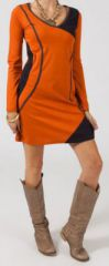 Robe courte à manches longues Ethnique et Colorée Rania 275213