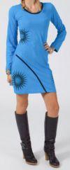 Robe courte à manches longues Ethnique et Colorée Rawane 275217