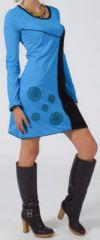 Robe courte à manches longues Ethnique et Colorée Rihem 275223