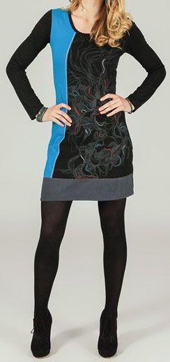 Robe courte à manches longues ethnique et originale Chanelle 273777