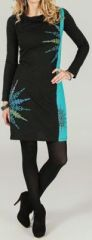 Robe courte à manches longues ethnique et originale Daelle 273781