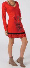 Robe courte à manches longues Ethnique et Originale Maélane 275039