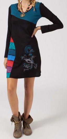 Robe courte à manches longues Ethnique et Originale Médina 275074