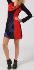 Robe courte à manches longues Ethnique et Originale Perrine 275147