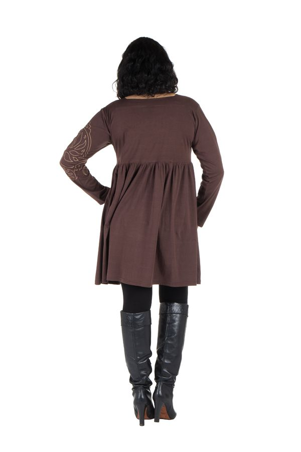 Robe courte à manches longues grande taille Canaille 302159