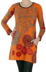 Robe courte à manches longues Mélissa Originale et Imprimée 286620