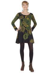 Robe courte à manches longues Originale et Colorée Cachar 285386