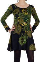 Robe courte à manches longues Originale et Colorée Cachar 286644