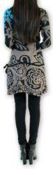 Robe courte à manches longues Originale et Colorée Jacynthe Grise 274434