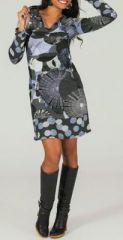 Robe courte à manches longues Originale et Ethnique Tadéa 274102
