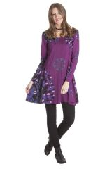 Robe courte à mandalas Gaie et Ethnique Suraya Violette 285388