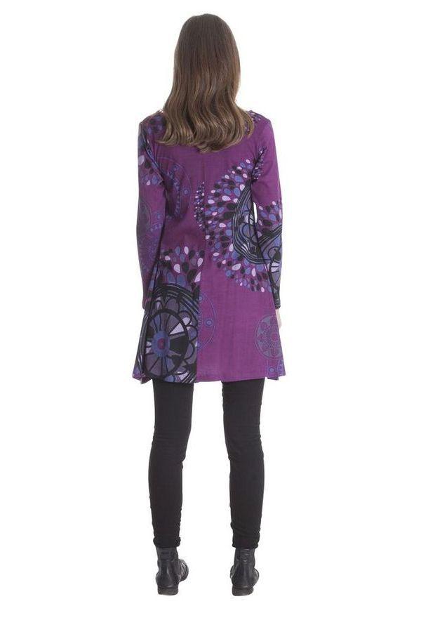 Robe courte à mandalas Gaie et Ethnique Suraya Violette 285389