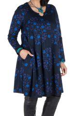 Robe courte à poche et motifs colorés Huà 301162
