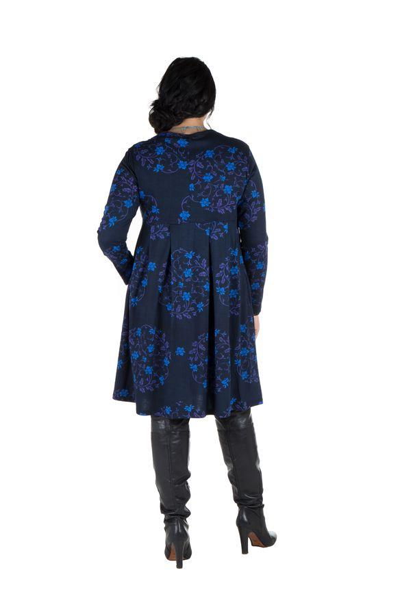 Robe courte à poche et motifs colorés Huà 301165