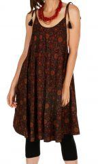 Robe courte ample pour femme style bohème Mandinari multi 314611