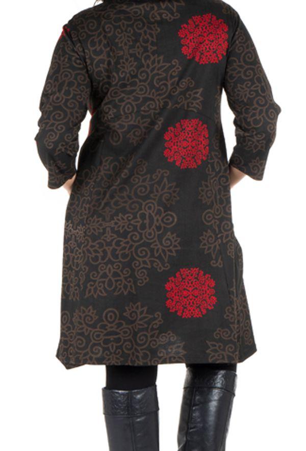 Robe courte automne marron, rouge, et noire Weii 301361
