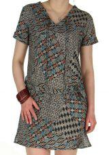 Robe courte aux imprimés Africains Originale et Ethnique Alaka 284054