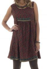 robe courte avec imprimés ethniques et col rond Nikolina 292147