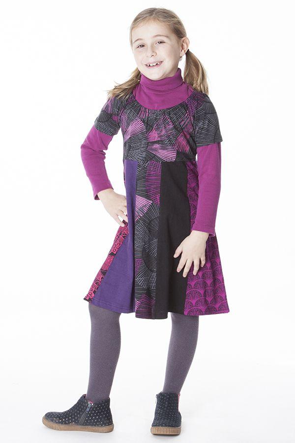 Robe courte avec plusieurs imprimés pour enfant 287169