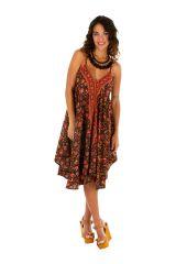 Robe courte avec un imprimé floral pour un style bohème Leora 306322