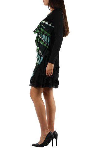 robe courte avec un imprimé graphique original Tina Vert 302747