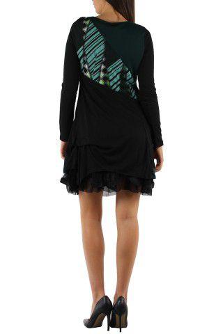 robe courte avec un imprimé graphique original Tina Vert 302748